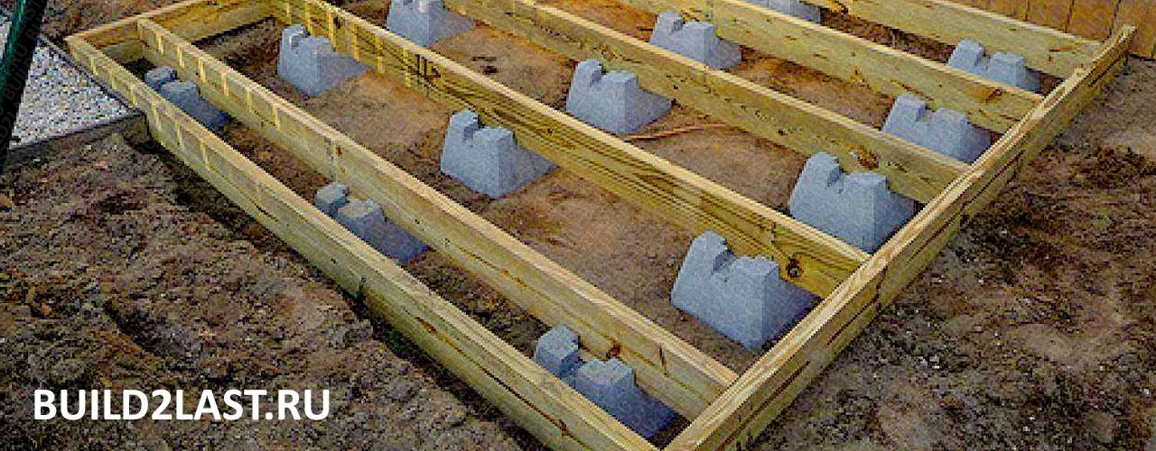 Опорные бетонные блоки для фундамента