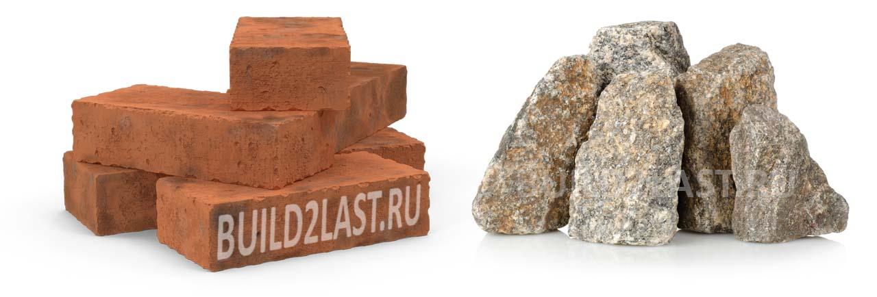 Полнотелый кирпич или непористые камни идеально подходят для строительства столбчатого фундамента