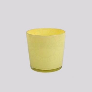 Горшки для комнатных растений Кашпо Nina Glass прозрачное желтое