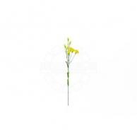 Искусственные растения Цветок искусственный гвоздика  желтая 9 цветков 70 см