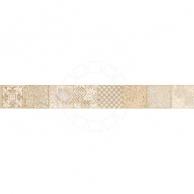 Облицовочная плитка Декоративные элементы для плитки Бордюр Pietra бежевый 7,5х63 см