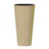 Цветочные горшки Горшки для комнатных растений Prosperplast, Кашпо с контейнером Prosperplast Tubus Slim Shine кофе 30 см