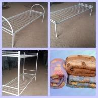 Кровати Кровать одноярусная  с прямой спинкой 190*90, Собственное производство