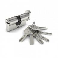 Замки механизм цилиндровый palladium 70 c ключ/вертушка cp(хром)