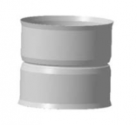Адаптеры котла Адаптер котла, ф 110х110, 1,0мм, нержавейка, h=120мм