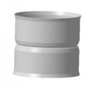 Адаптеры котла Адаптер котла, ф 130х130, 1,0мм, нержавейка, h=120мм