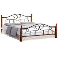 Кровати Металлическая кровать  AT 808 (метал. каркас) + металл. основание, TetChair