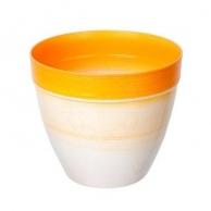 Цветочные горшки Горшки для комнатных растений Пластиковое кашпо оранжевое D16