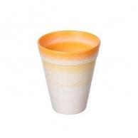Цветочные горшки Горшки для комнатных растений Пластиковое кашпо оранжевое D9