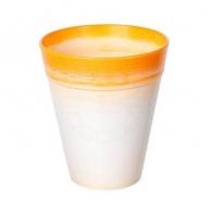 Цветочные горшки Горшки для комнатных растений Пластиковое кашпо оранжевое D15