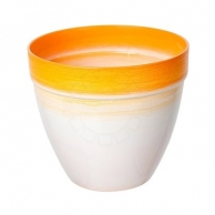 Цветочные горшки Горшки для комнатных растений Пластиковое кашпо оранжевое D20