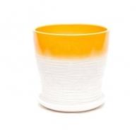 Цветочные горшки Горшки для комнатных растений Цветочный горшок Мармелад керамика 13х14 см желтый тополь